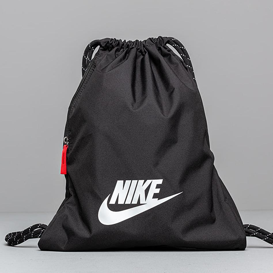 Nike Heritage Gymsack Black/ Black/ White 13 litrov