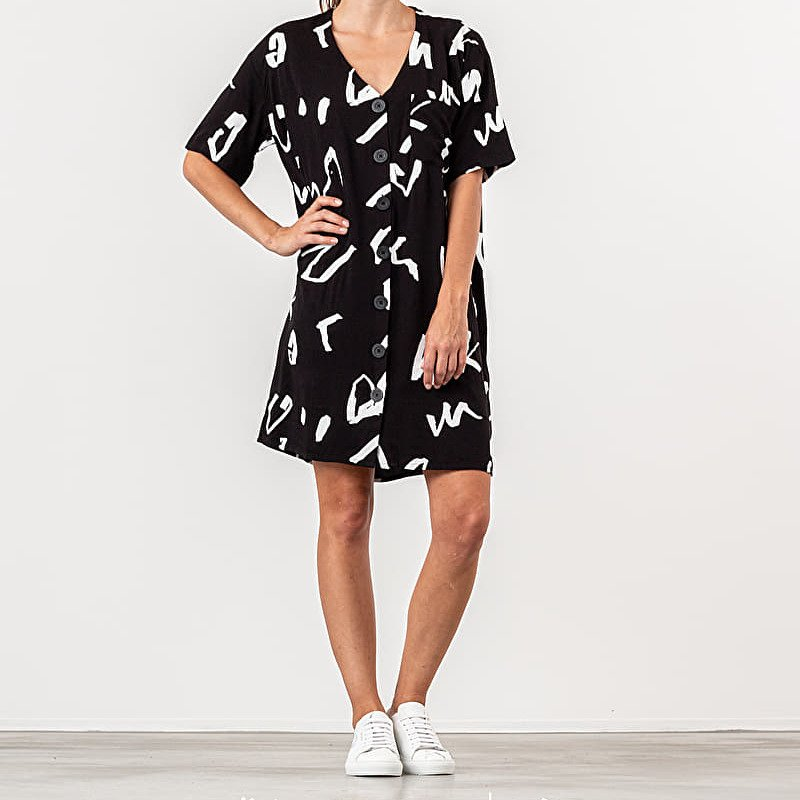 Lazy Oaf GEM Scribble Dress Black