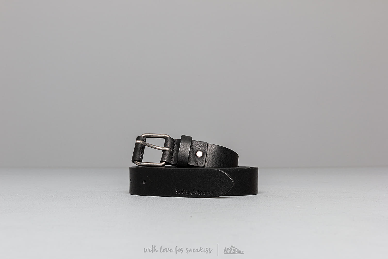 Belts Nudie Jeans Dwayne Leather Belt Black