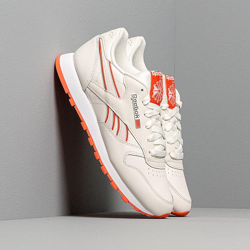 Reebok CL Leather Chalk/ Fiery Orange/ White EUR 38.5