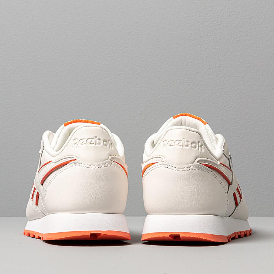 Reebok CL Leather Chalk/ Fiery Orange/ White