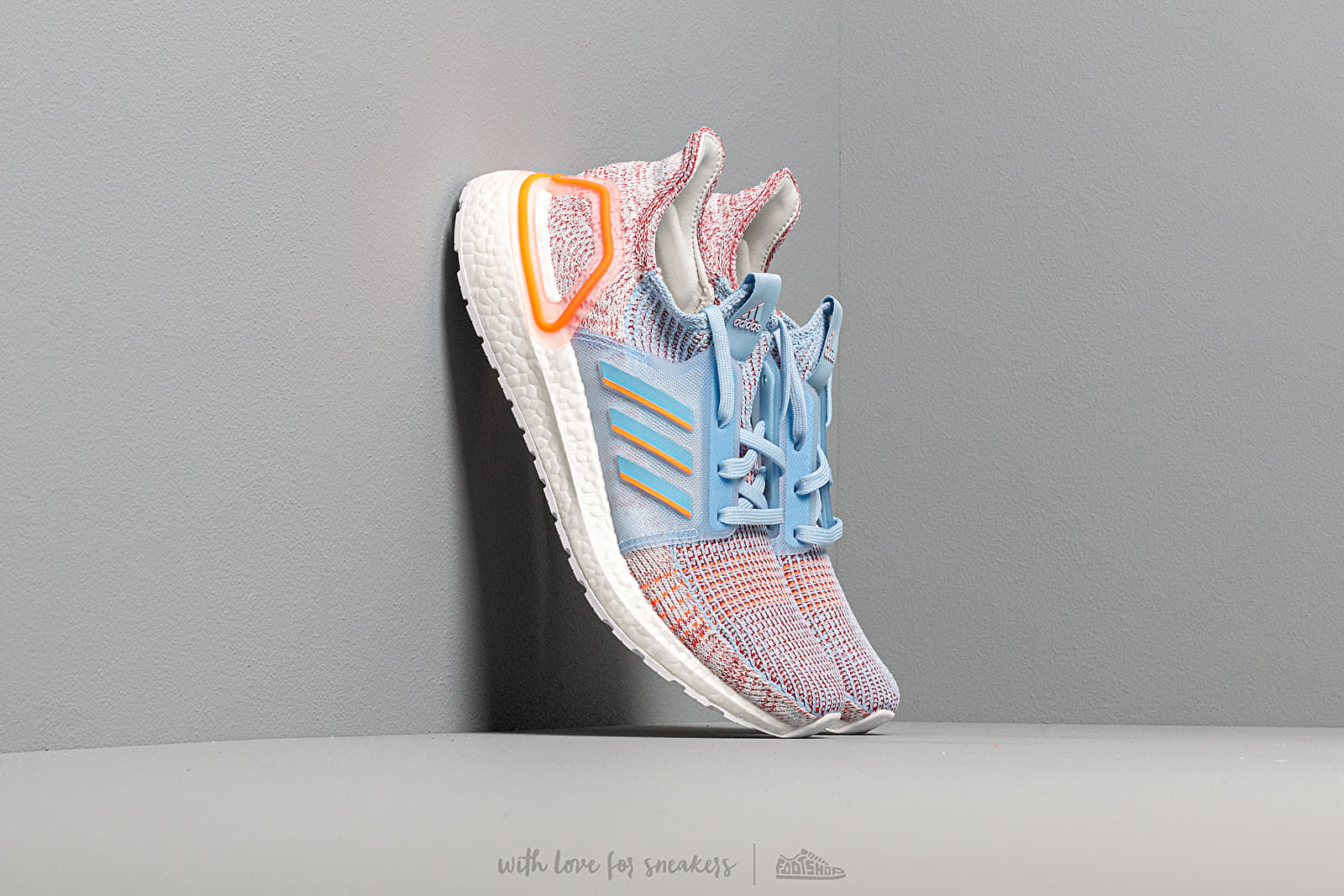 Women's shoes adidas UltraBOOST 19 W Glow Blue/ Hi-Res Coral/ Active Maroon