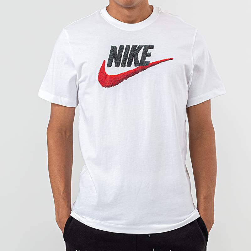 Nike Sportswear Brand Mark Tee White/ Black/ Habanero Red S