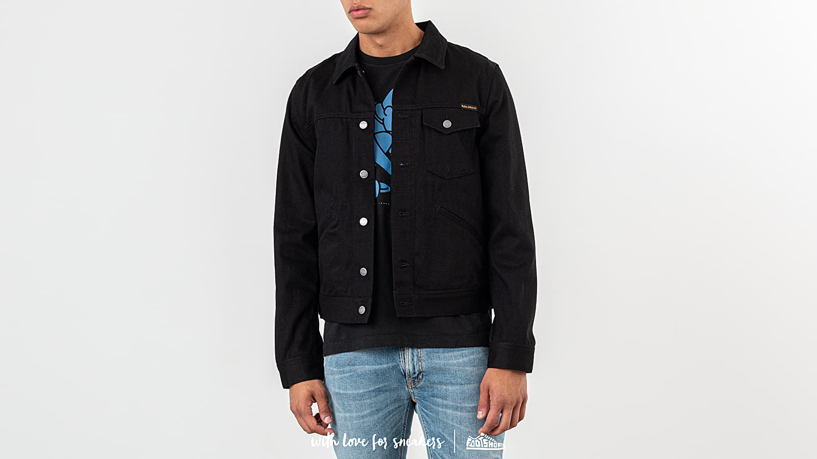 Bundy Nudie Jeans Tommy Dry Twill Jacket Black