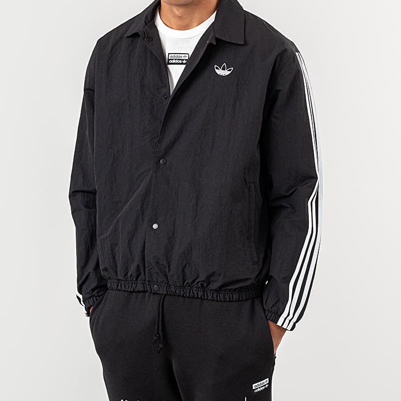 adidas Trefoil Coach Jacket Black/ White S