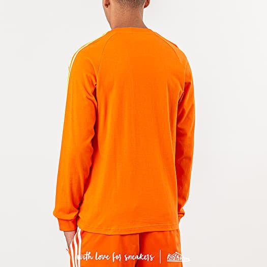 adidas 3 Stripe T Shirt orange