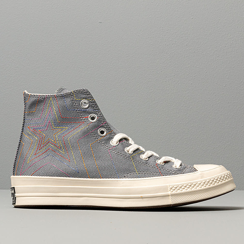 Converse Chuck 70 Hi Black/ Cool Grey/ Egret, Gray