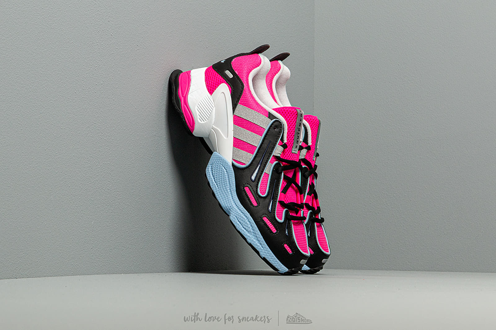 Női cipők adidas EQT Gazelle W Shock Pink/ Silver Mate/ Glow Blue