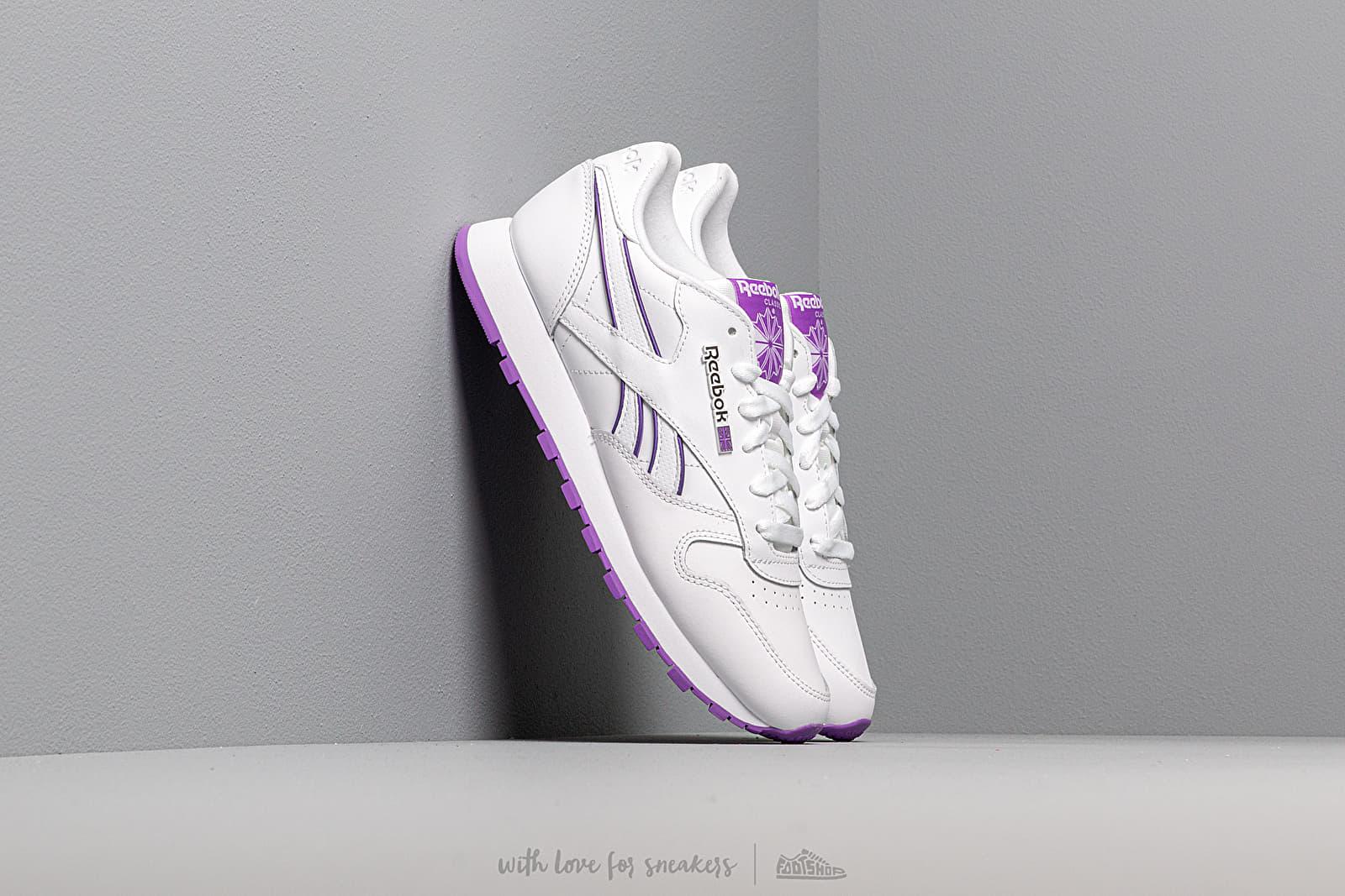 Dámské tenisky a boty Reebok Classic Leather White/ Grape Punch