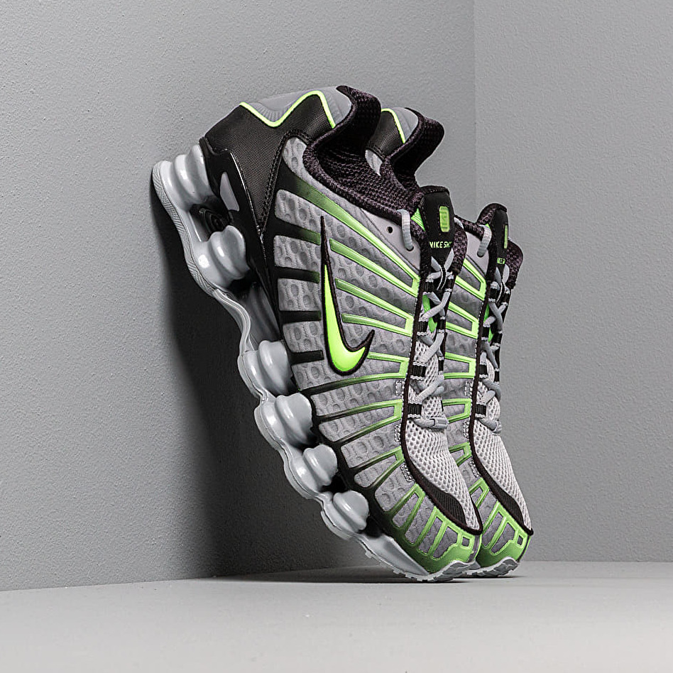 Nike Shox Tl Wolf Grey/ Lime Blast-Black EUR 43