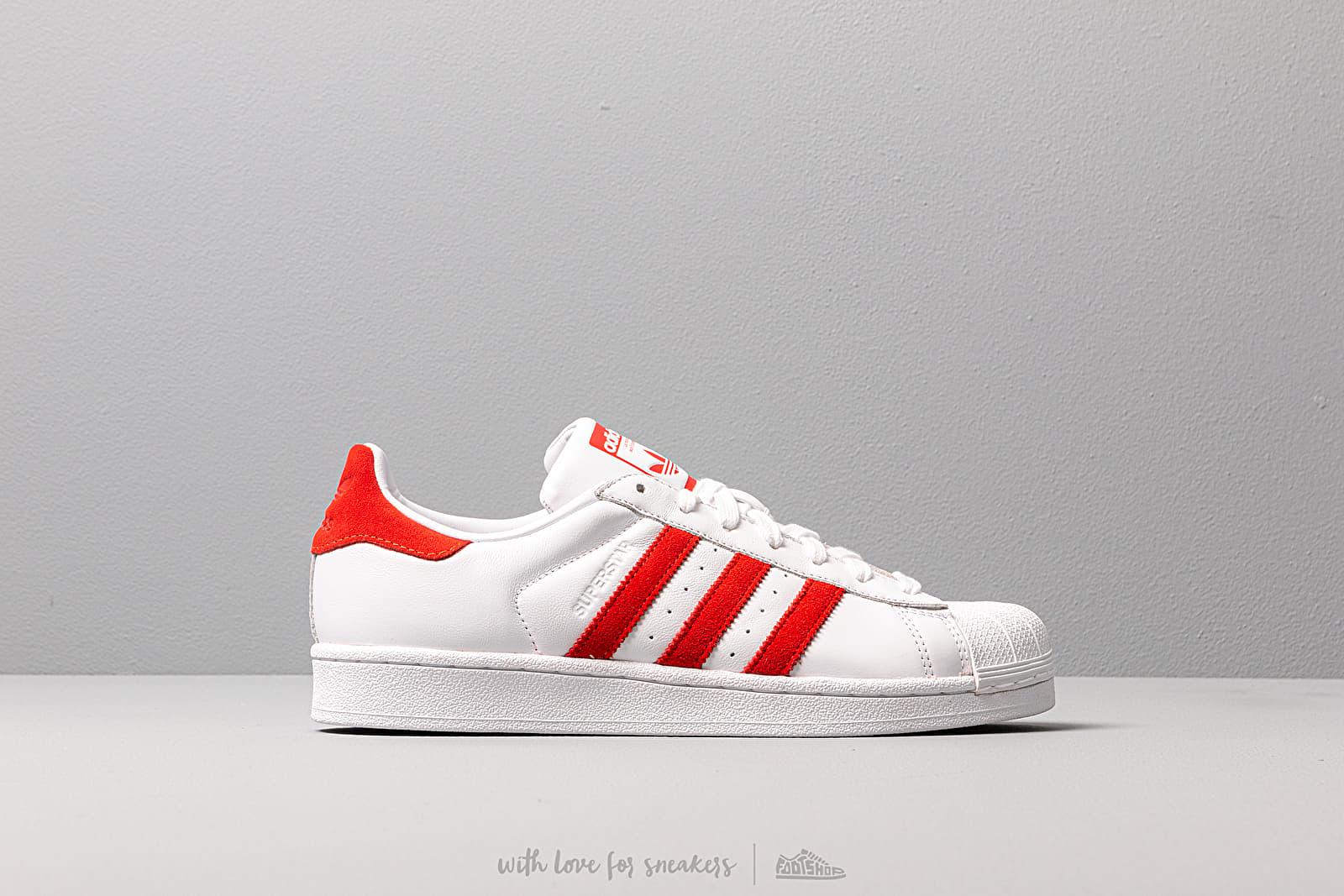adidas Superstar Ftw White Active Red Ftw White   Footshop