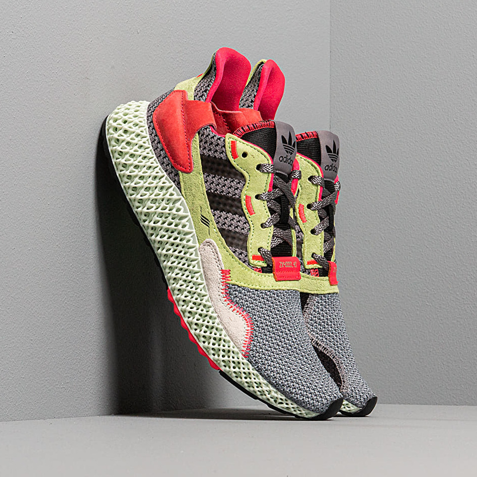 adidas ZX 4000 4D Grey Three Core Black HiRes Yellow