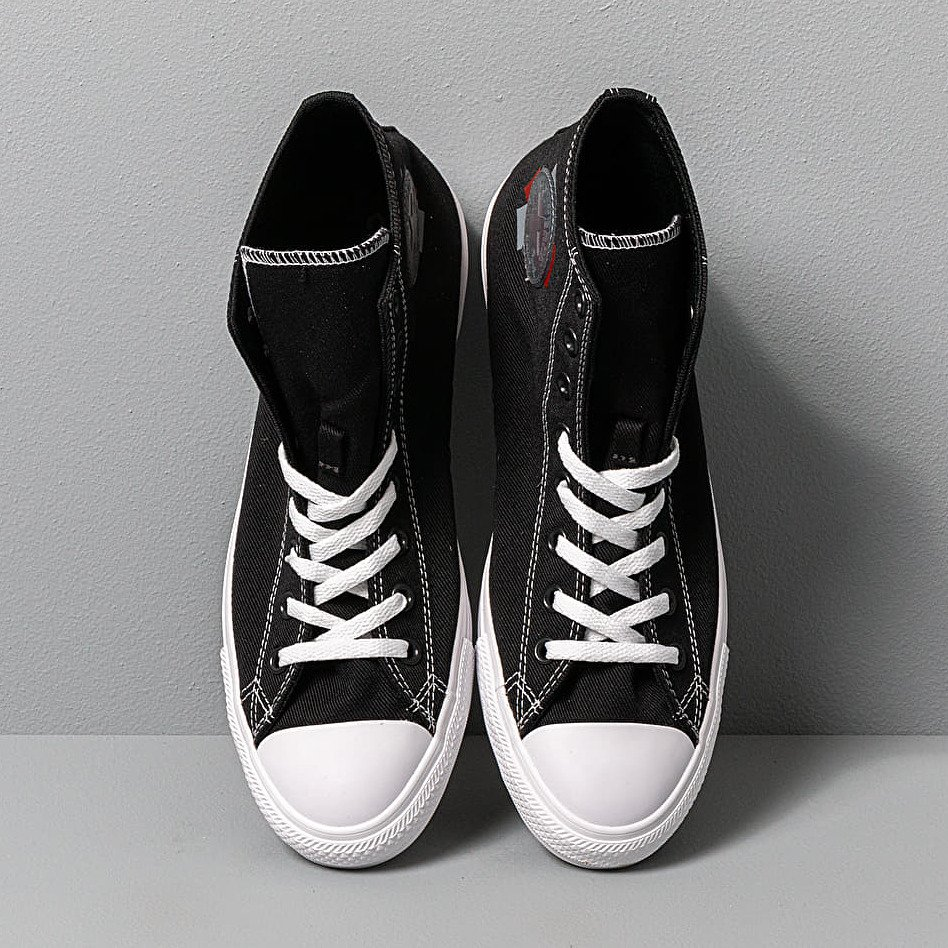 Converse Chuck Taylor All Star Hi Black/ Enamel Red/ White
