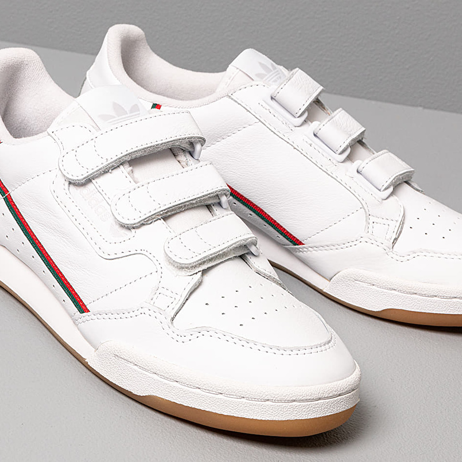 reasonable price outlet boutique competitive price adidas Continental 80 Strap Ftw White/ Core Green/ Scarlet ...