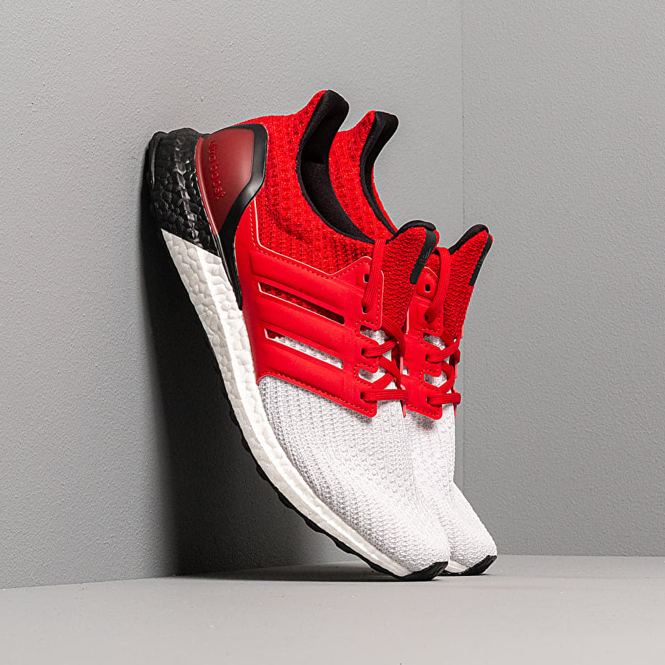 adidas UltraBOOST M Ftw White/ Scarlet/ Core Black