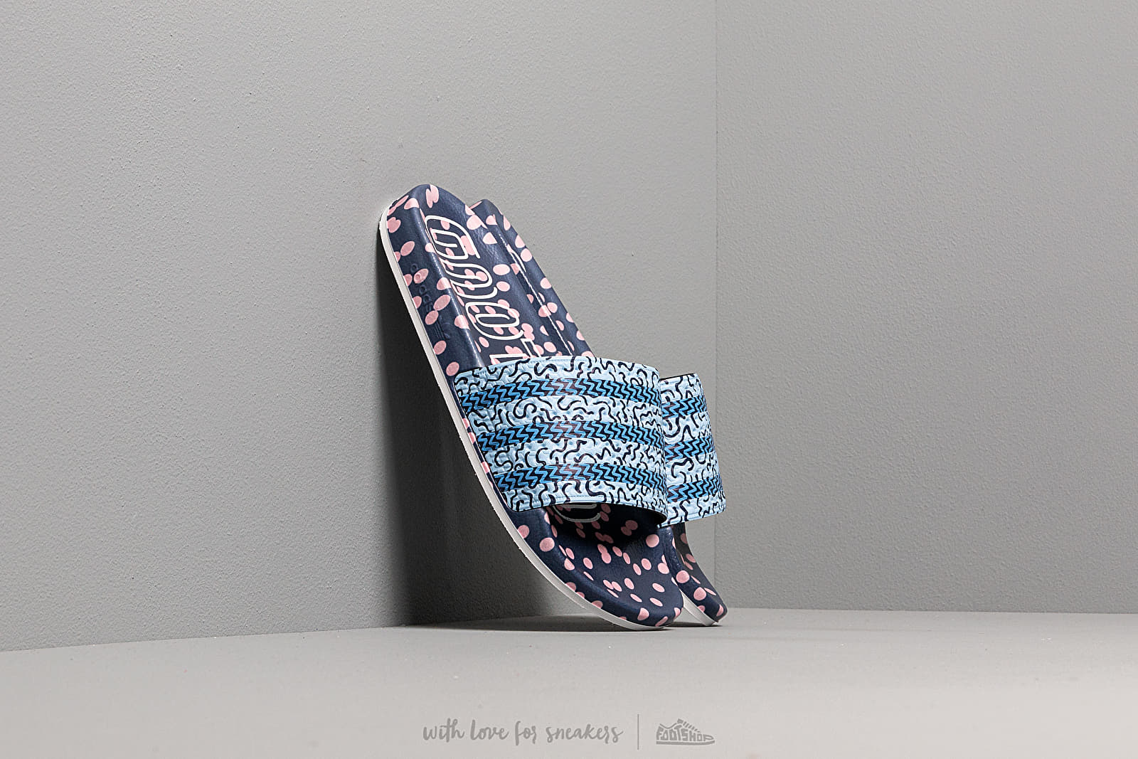 Women's shoes adidas Adilette W Collegiate Navy/ Glow Blue/ Real Blue