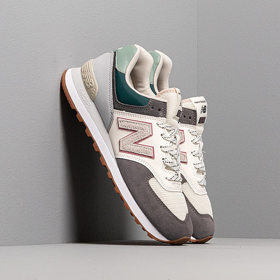 New Balance 574 Grey/ Off White/ Green EUR 41.5