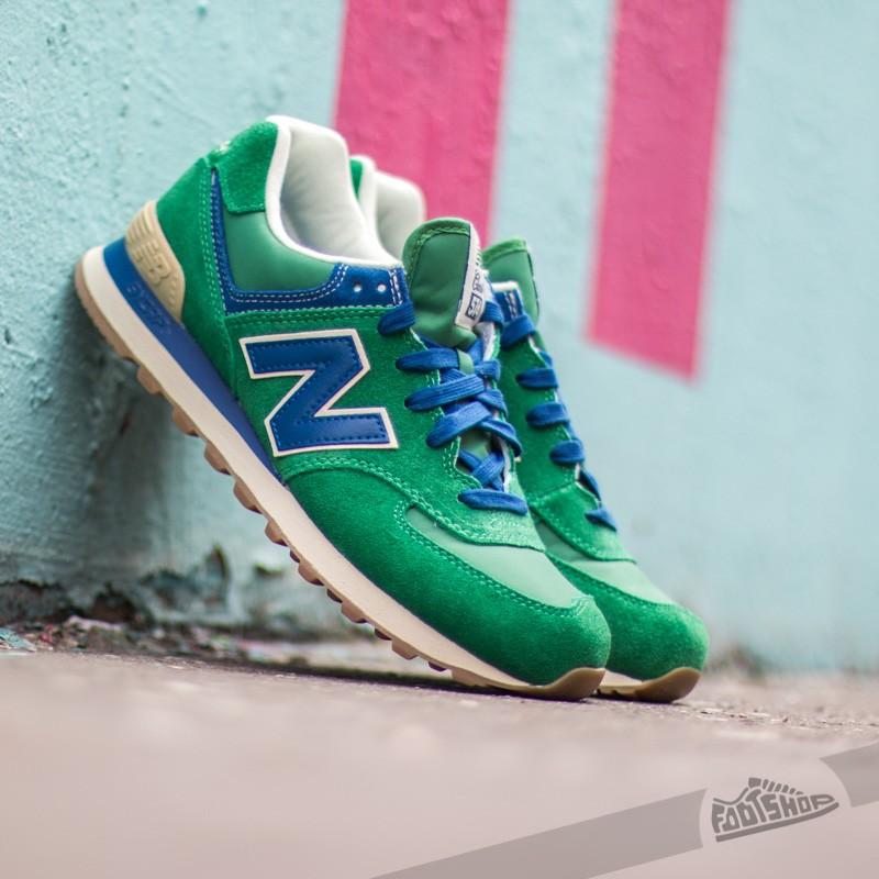new balance 574 blue green