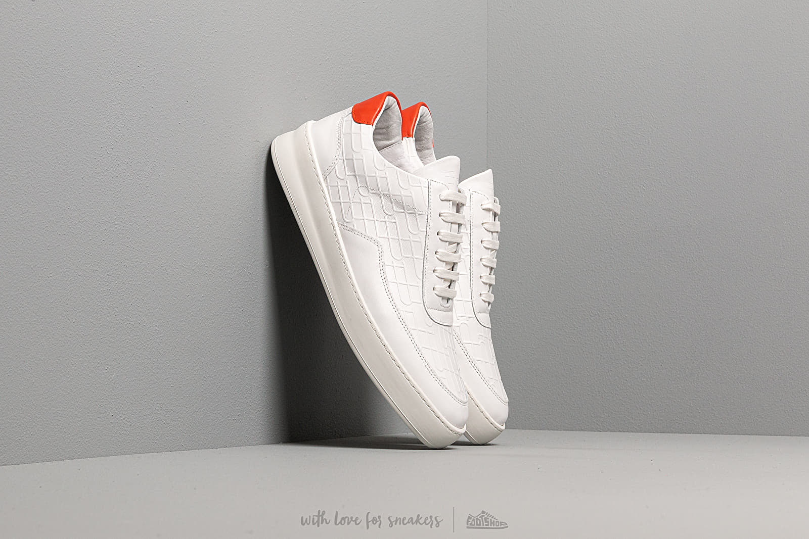 Men's shoes Filling Pieces Low Mondo Plain Mono White