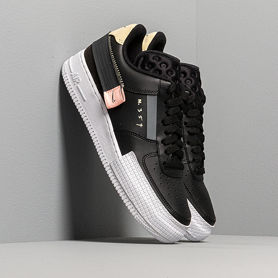 Nike Air Force 1-Type Black/ Anthracite-Zinnia-Pink Tint EUR 38