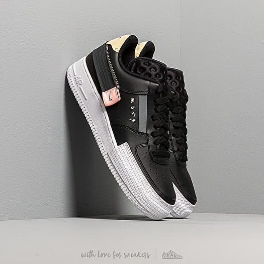 air force 1 type black anthracite pink