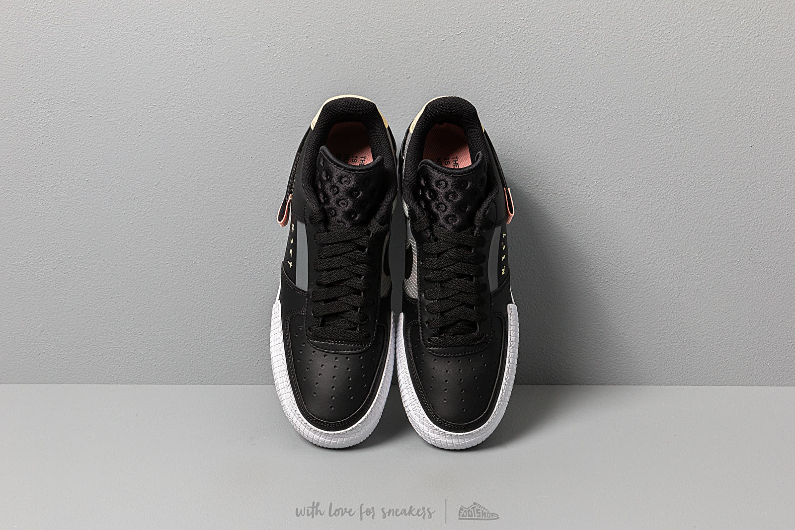 Nike Air Force 1 Type Black Anthracite Zinnia Pink Tint | Footshop