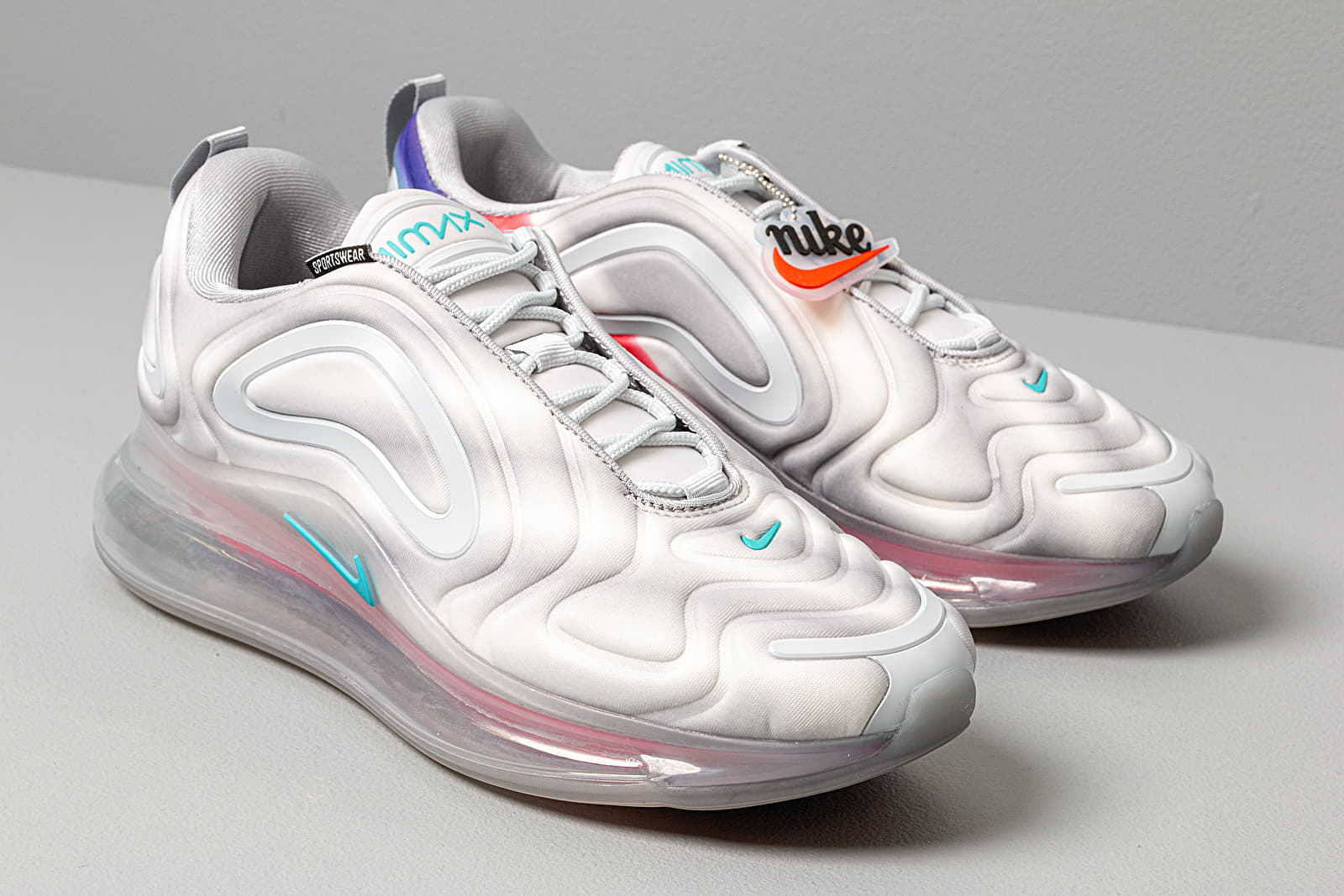 ambiente Parecer Caligrafía  Men's shoes Nike Air Max 720 Wolf Grey/ Teal Nebula-Red Orbit-White
