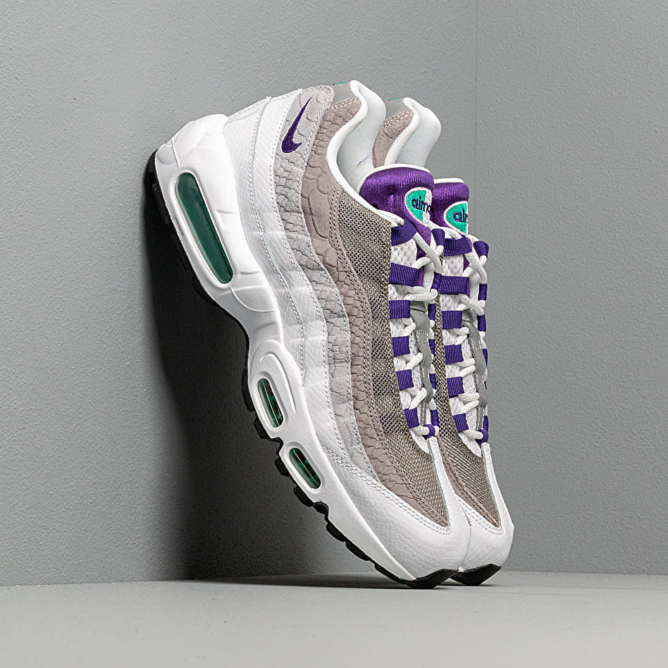 Nike Air Max 95 Lv8 White/ Court Purple-Emerald Green