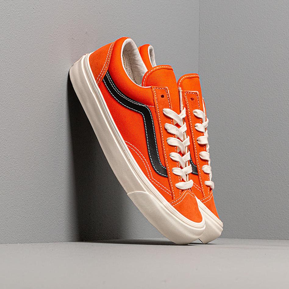 Vans Og Style 36 Lx (Suede/ Canvas) Red Orange/ Black EUR 47