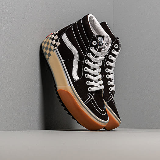 Vans Sk8 Hi Stacked Black Checkerbord | Footshop