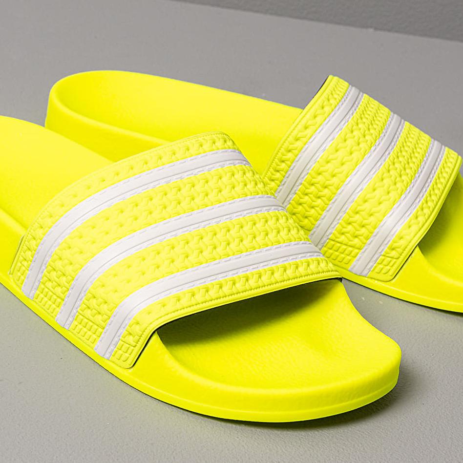 adidas Adilette Solar Yellow Ftw White Solar Yellow