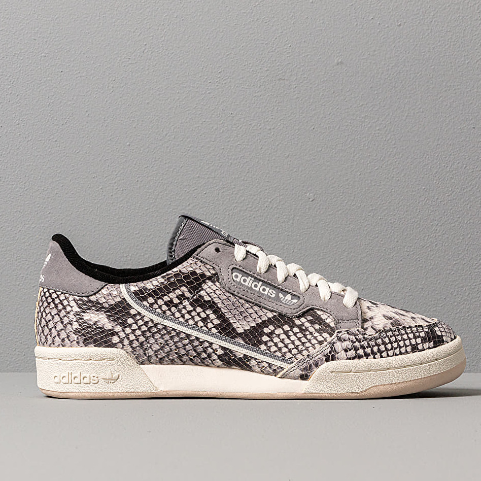 adidas Continental 80 Grey Two F17/ Off White/ Linen, Gray