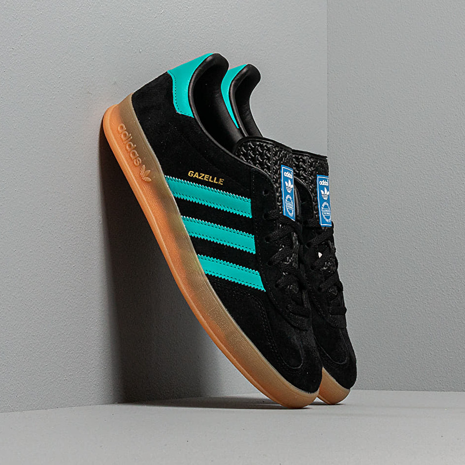 adidas Gazelle Indoor Core Black/ Hi-Res Aqua/ Ftw White EUR 47 1/3