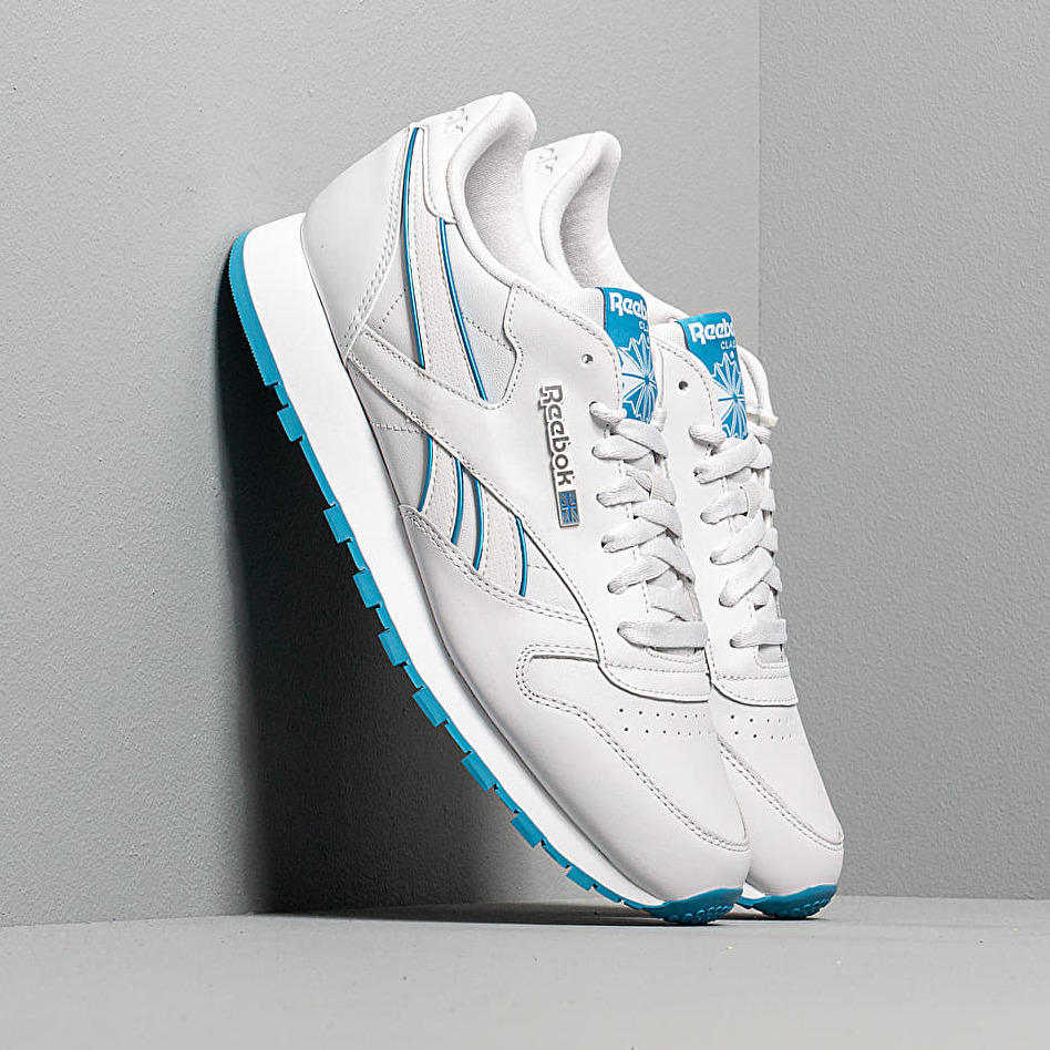 Reebok Cl Leather Mu Procelain/ Cyan/ White EUR 44.5