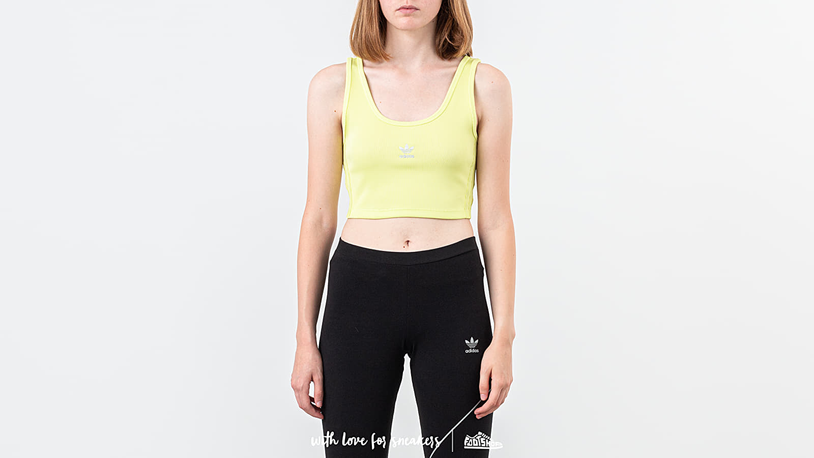 Tank Tops adidas Cropped Tank Semi Frozen Yellow