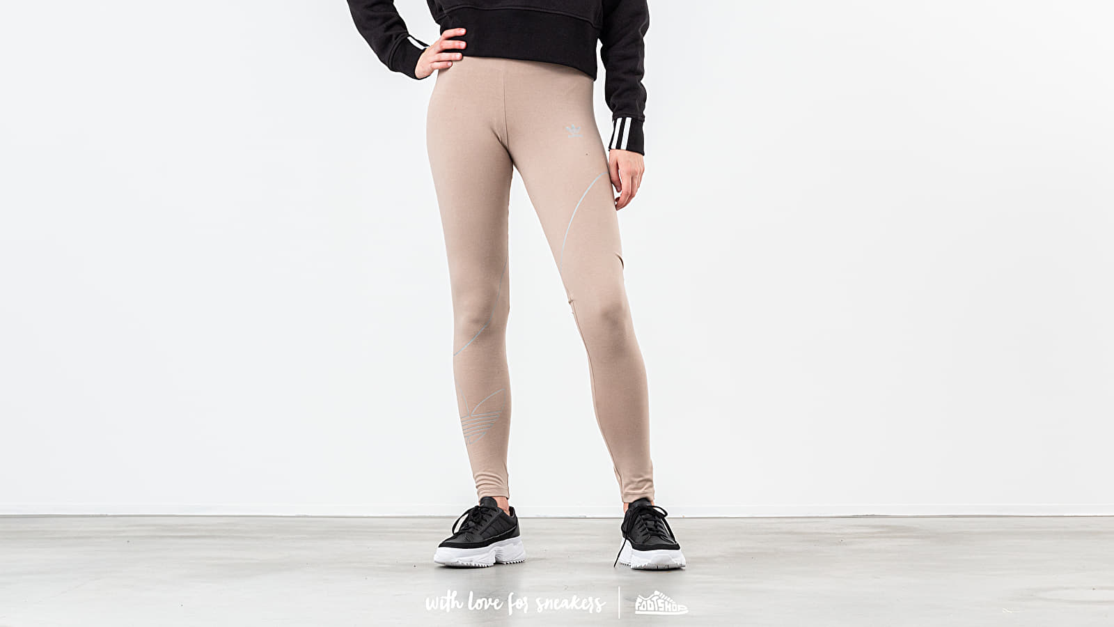 Pants and jeans adidas Tights Trace Khaki