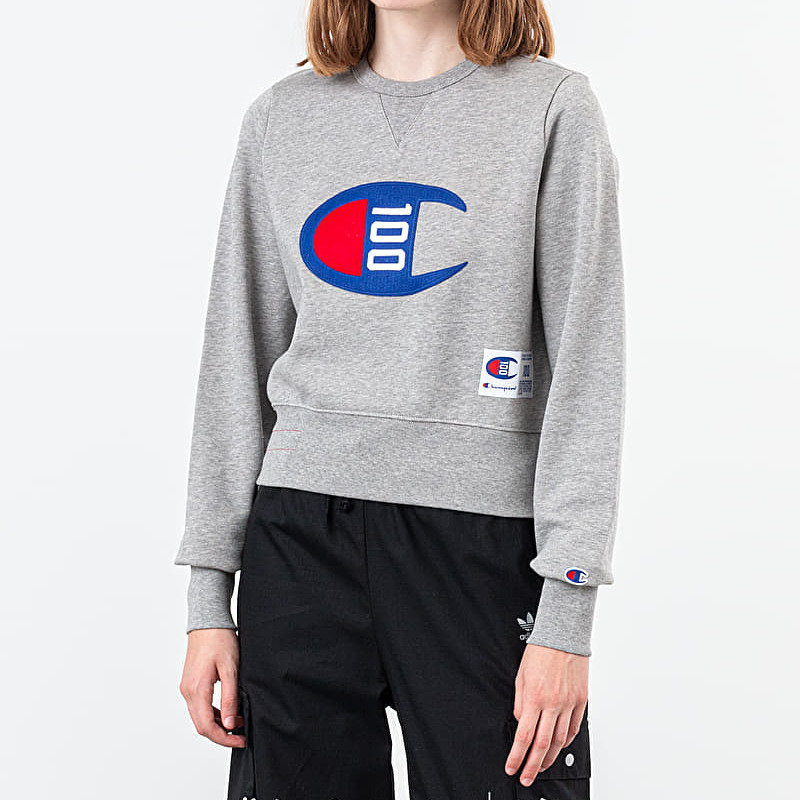 Champion 100th Aniversary Crewneck Grey, Gray