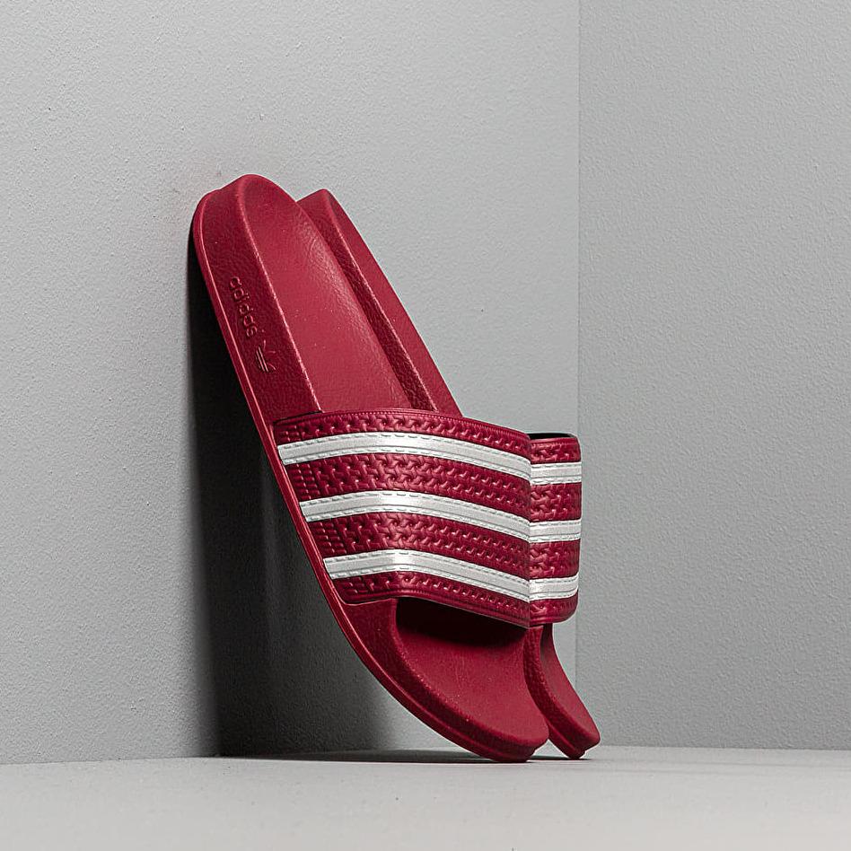 adidas Adilette Core Burgundy/ Ftw White/ Core Burgundy
