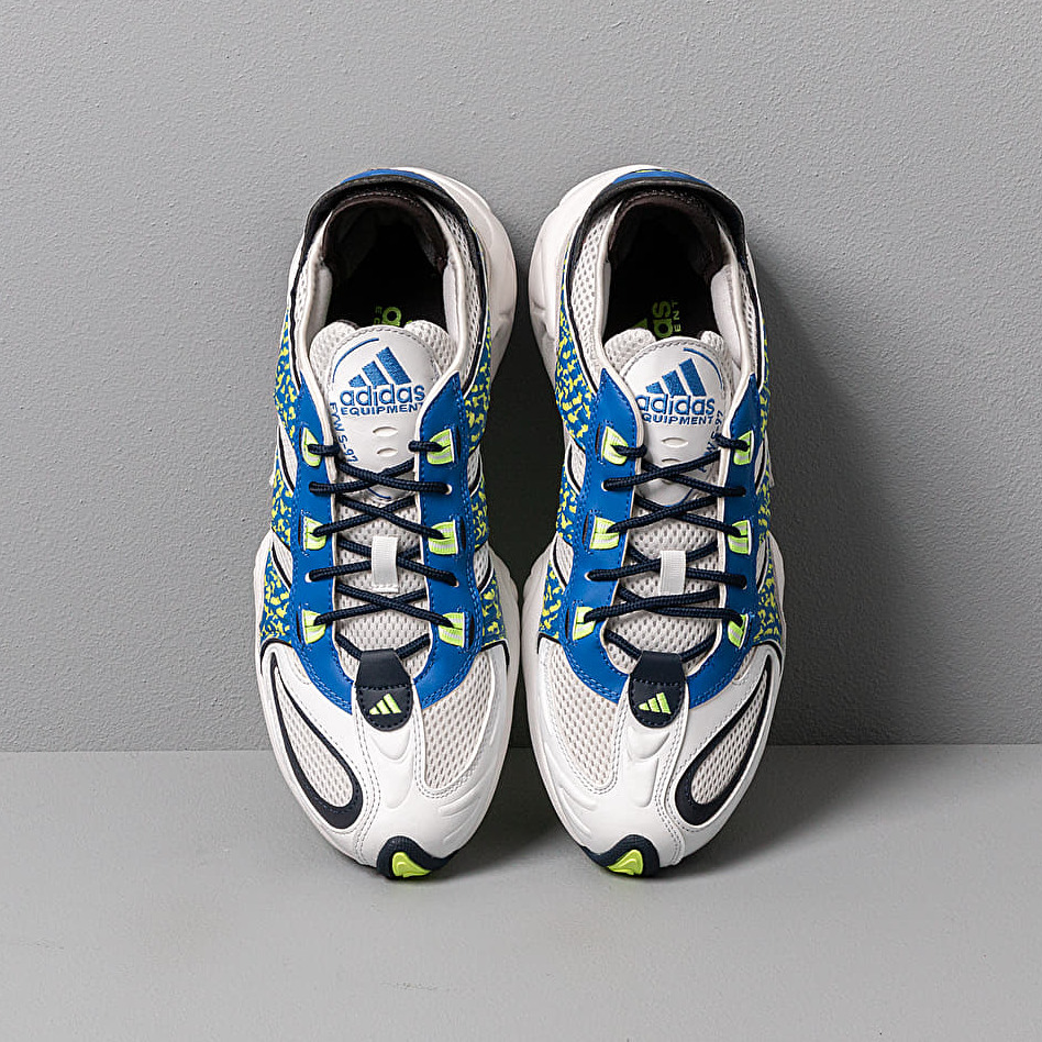 adidas FYW S-97 Crystal White/ Blue/ Hi-Res Yellow