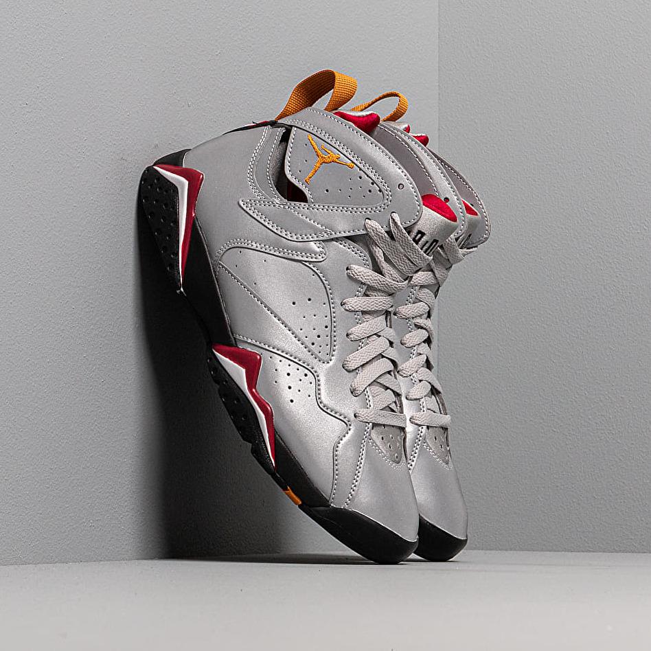Air Jordan 7 Retro Sp Reflect Silver/ Bronze-Cardinal Red-Black, Gray