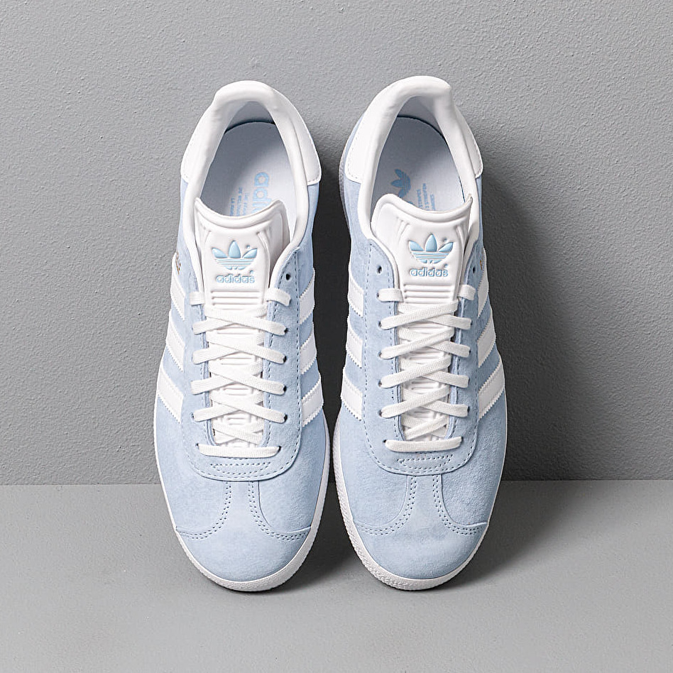 adidas Originals Leather Adidas Gazelle W Grey One Ftw