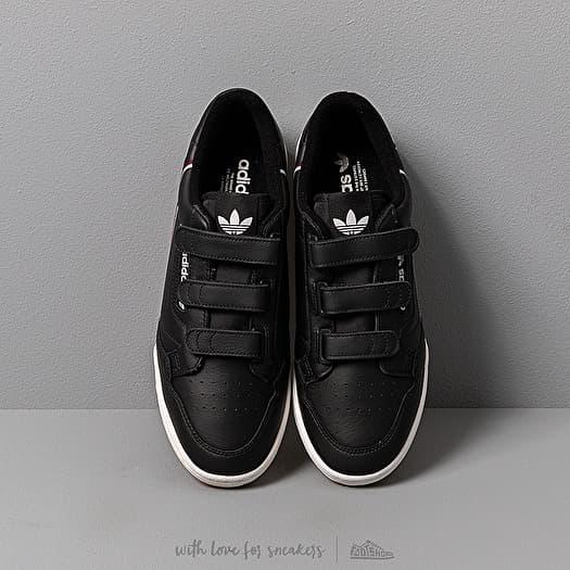 adidas Continental 80 StrapCore Black Maroon Glow Blue