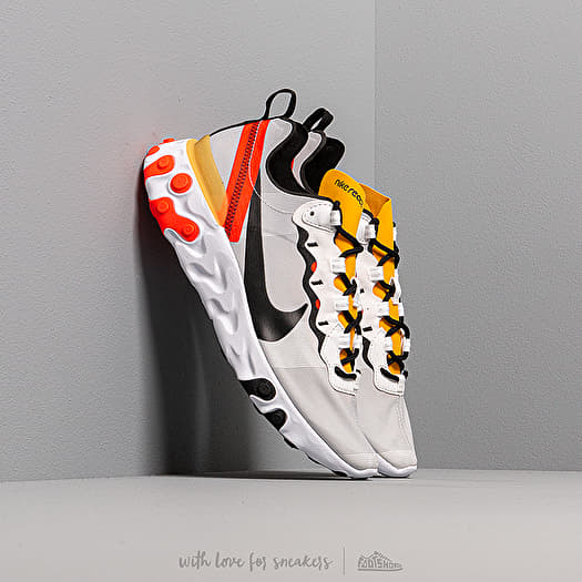 Nike React Element 55 White Black Bright Crimson | Footshop