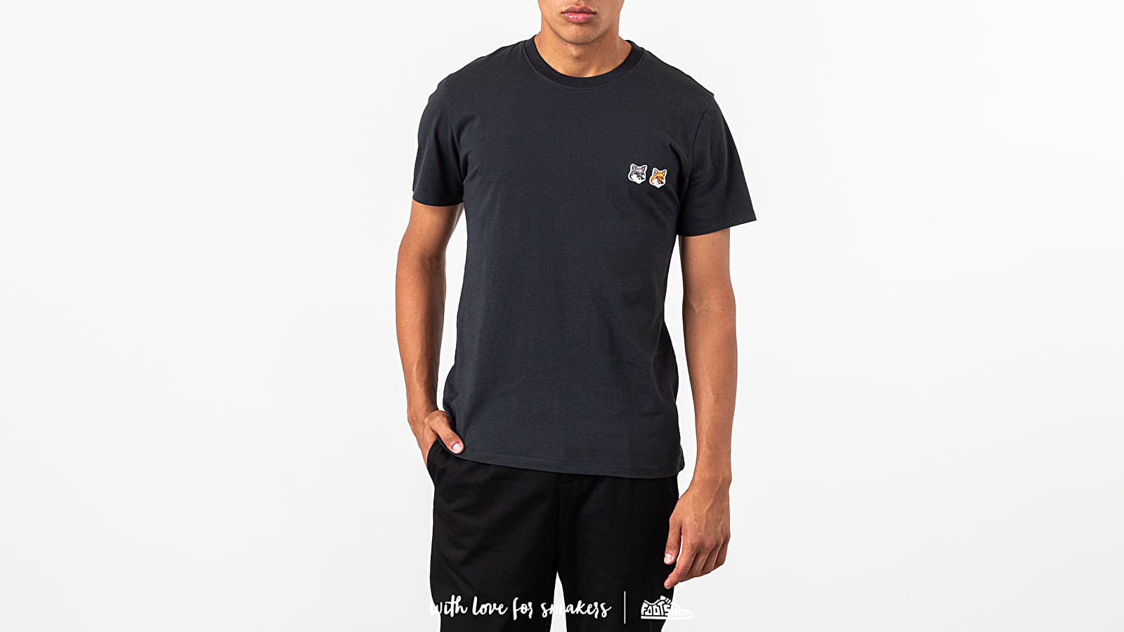 MAISON KITSUNÉ Double Fox Patch Tee