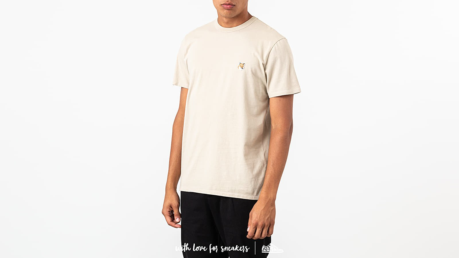 T-shirts MAISON KITSUNÉ Fox Head Patch Tee Beige