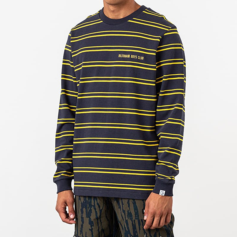 Billionaire Boys Club Stripe Knit Longsleeve Tee Navy, Blue