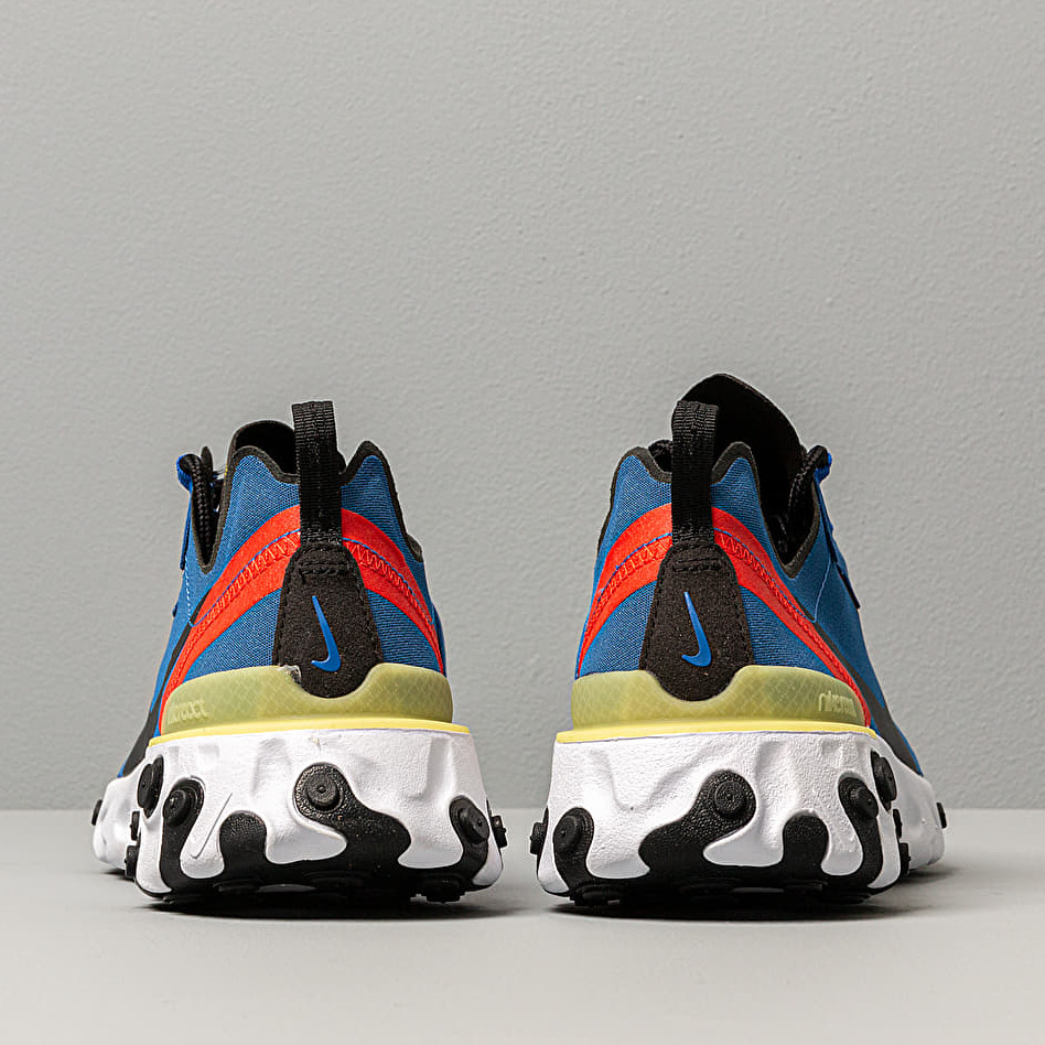 more photos clearance prices hot products Nike React Element 55 Game Royal/ Black-White-Dynamic Yellow ...