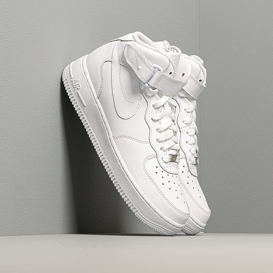 Nike Air Force 1 Mid (GS) White/ White EUR 38