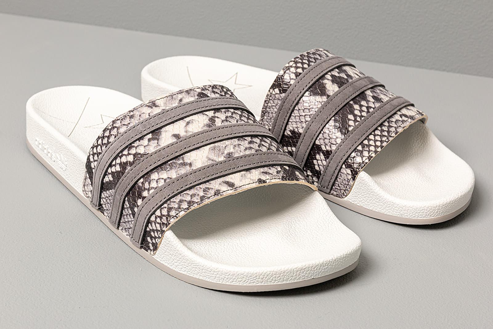 adidas Adilette Crystal White Grey Four Grey Two | Footshop