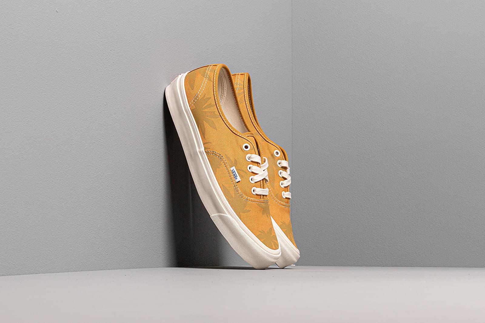 Men's shoes Vans OG Authentic LX (Canvas/ Island Leaf) Narcissus/ Gold